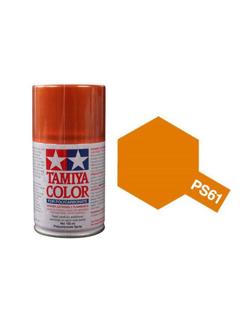 Tamiya Tamiya PS-61 Metallic Orange Polycarbanate Spray Paint 100ml
