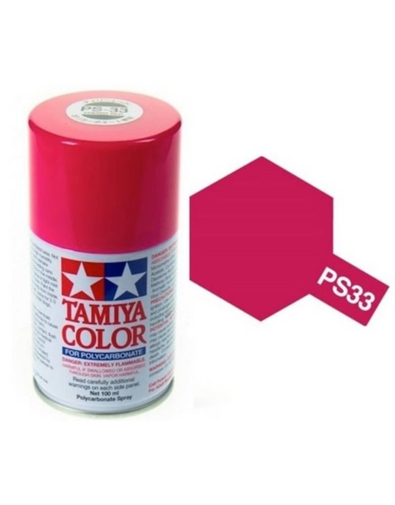 Tamiya Tamiya PS-33 Cherry Red Polycarbanate Spray Paint 100ml
