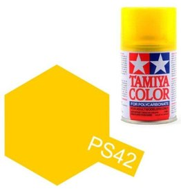 Tamiya Tamiya PS-42 Translucent Yellow Polycarbanate Spray Paint 100ml