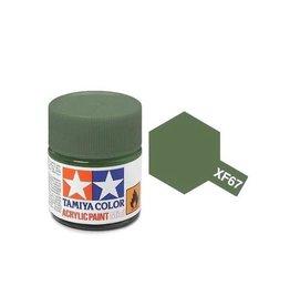 Tamiya Tamiya XF-67 Nato Green Flat Acrylic Paint 10ml