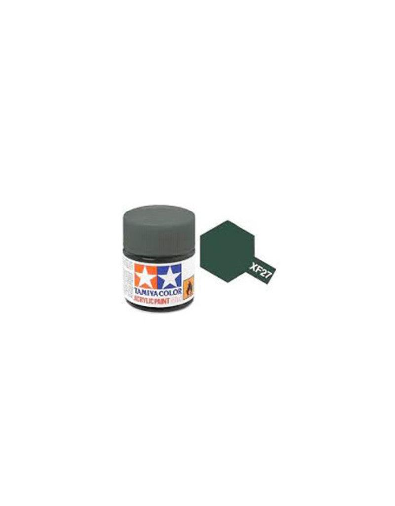 Tamiya Tamiya XF-27 Black Green Flat Acrylic Paint 10ml