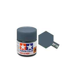 Tamiya Tamiya XF-18 Medium Blue Flat Acrylic Paint 10ml
