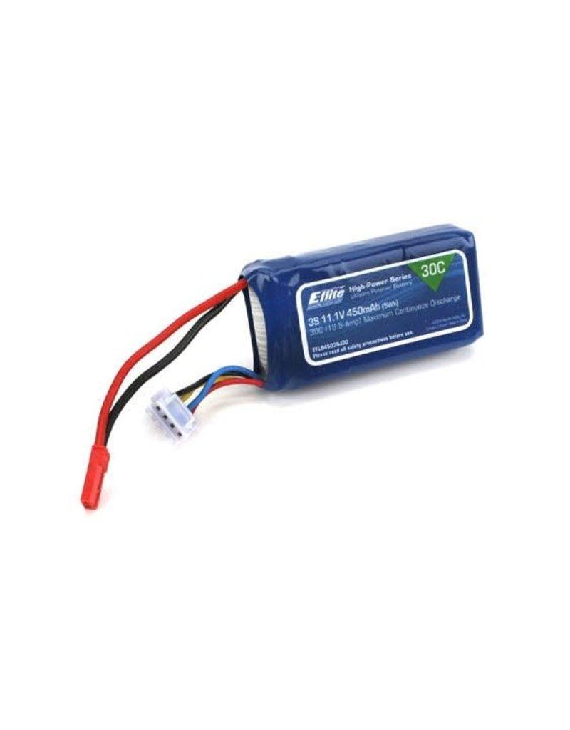 Eflite E-Flite 450mah 3S 11.1v 30C LiPo Battery with JST Connector