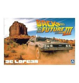 Aoshima Aoshima 005918 1/24 Back To The Future DeLorean from Part III & Railroad Ver.