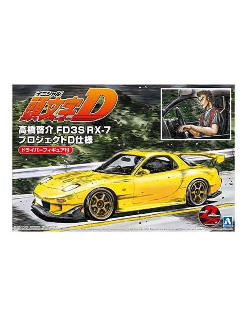 Aoshima 1/24 TAKAHASHI KEISUKE FD3S RX-7 (PROJECT D Ver.) with Figure