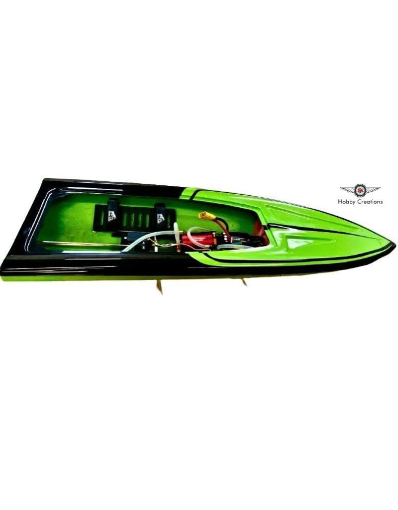 "MTC Boats MTC 36"" Mono Hull RC Boat - Green/Black"