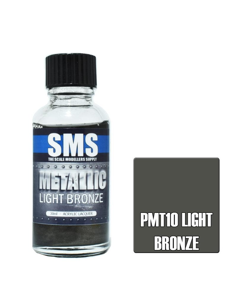 The Scale Modellers Supply Metallic Acrylic Lacquer LIGHT BRONZE 30ml