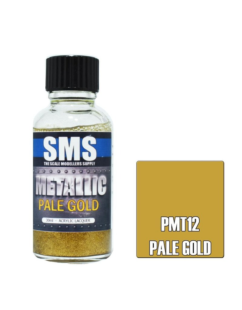 The Scale Modellers Supply Metallic Acrylic Lacquer PALE GOLD 30ml