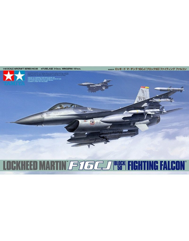Tamiya Tamiya 61098 1/48 Lockheed Martin F-16CJ Plastic Model Airplane Kit