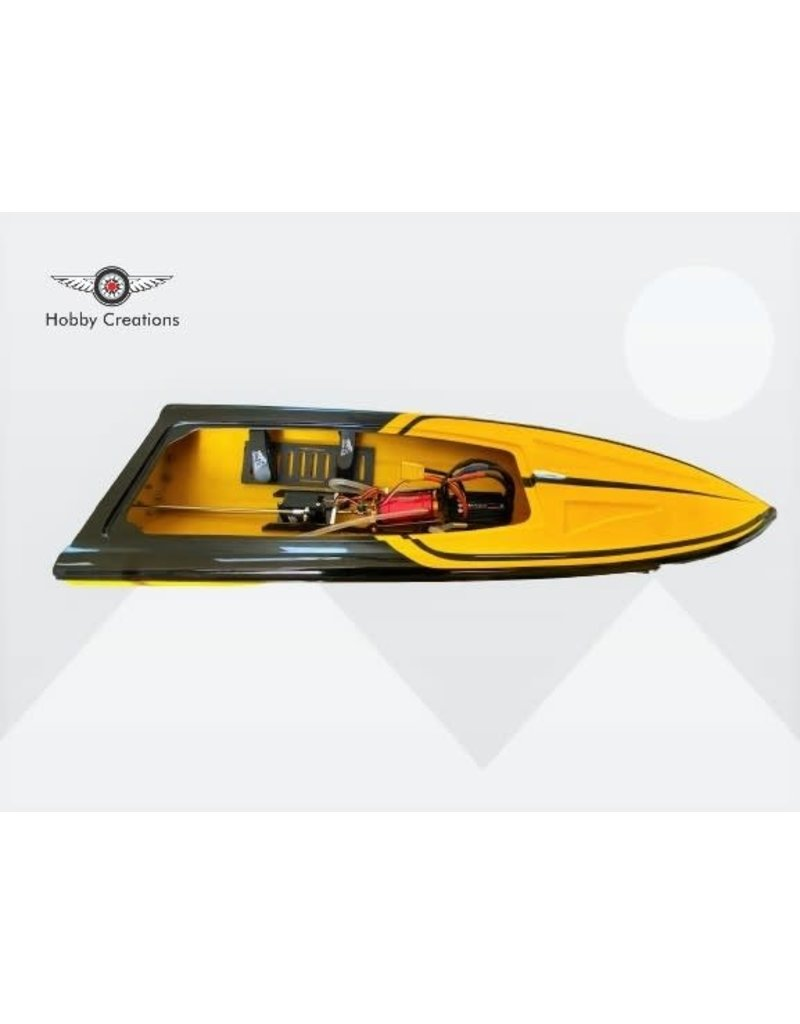 "MTC Boats MTC RC boat 36"" Mono Hull - Yellow/Black"