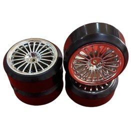 Vision RC 1/10 DRIFT 20-SPOKE TIRE SET-SILVER