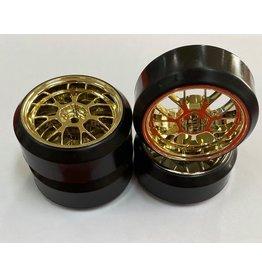 Vision RC 1/10 DRIFT 7-SPOKE TIRE SET-GOLD