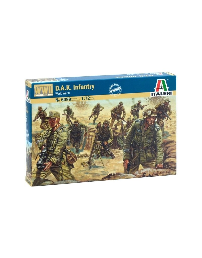 Italeri ITALERI 1/72 WWII D.A.K. INFANTRY