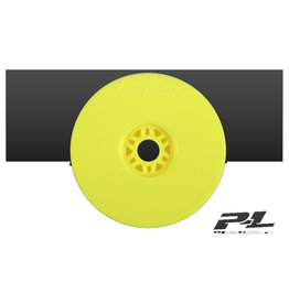 Proline PROLINE VELOCITY V2 YELLOW FRONT OR REAR 1-8TH BUGGY WHEELS 4PCS