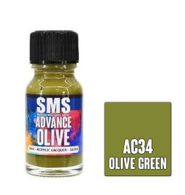 The Scale Modellers Supply SMS Advance OLIVE GREEN 10ml