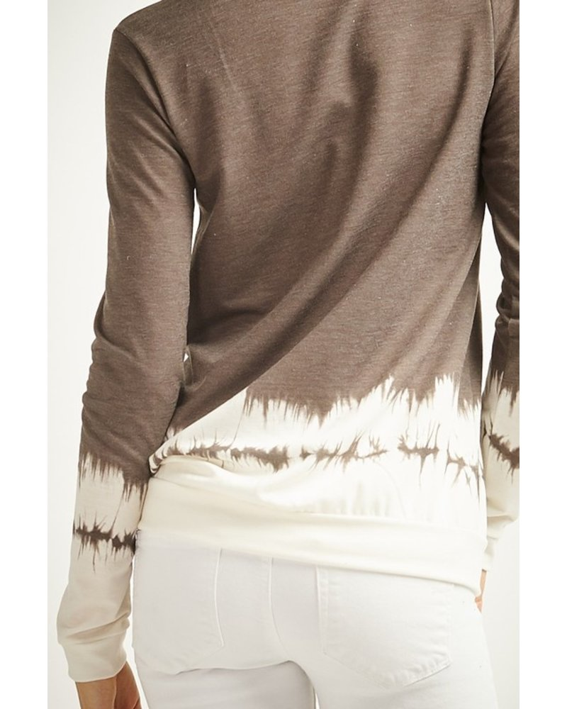 12PM By Mon Ami Smoky Brown Ombre Top