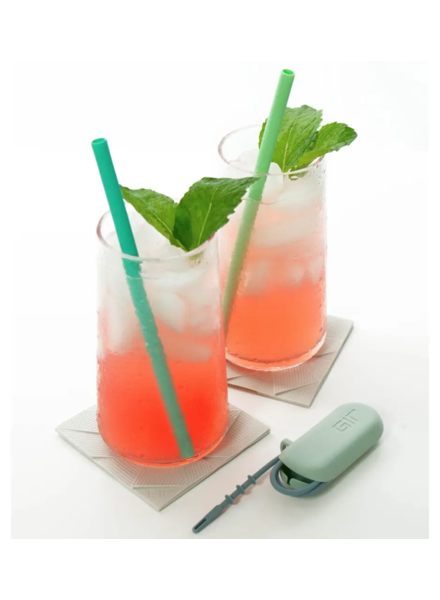 Get It Right Silicone Straws Set of 2