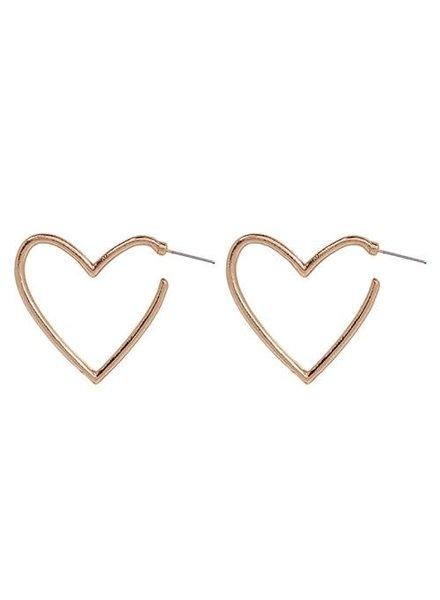 Koko & Lola Gold Open Heart Earrings