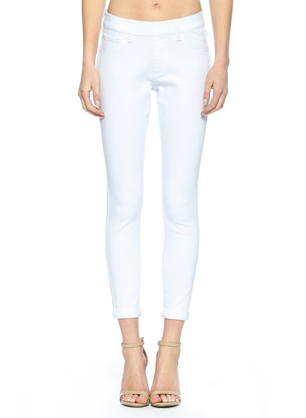 Cello Jeans Mid Rise Pull On White Crop Skinny