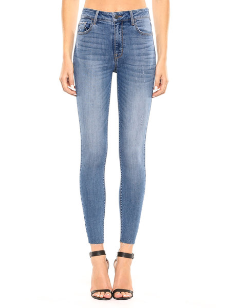Cello Jeans High Rise Straight Cut Ankle Skinny