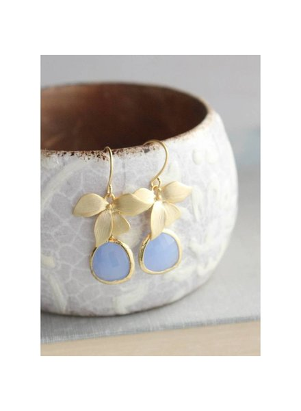 A Pocket of Posies Orchid Earrings