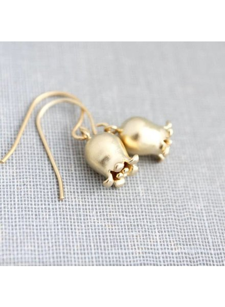 A Pocket of Posies Gold Lily Of The Valley Earrings
