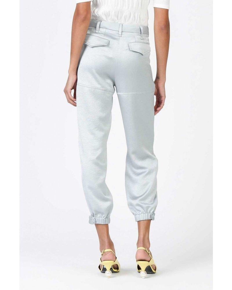Current Air Sage-Grey Elastic Hem Pants