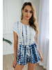 Asher And Emery Blue Tie Dye One Piece Romper