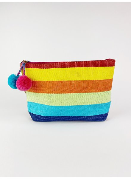 Shiraleah Rainbow Zip Pouch