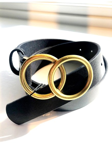 Most Wanted USA Leather Double Circle Belt