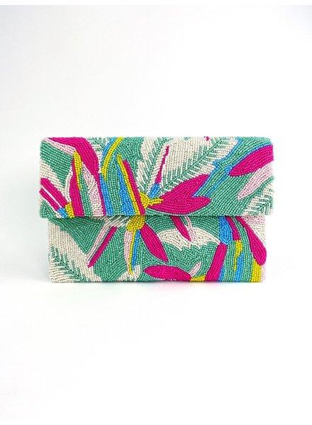 Tiana Designs Hand-Beaded Half Flap Clutch