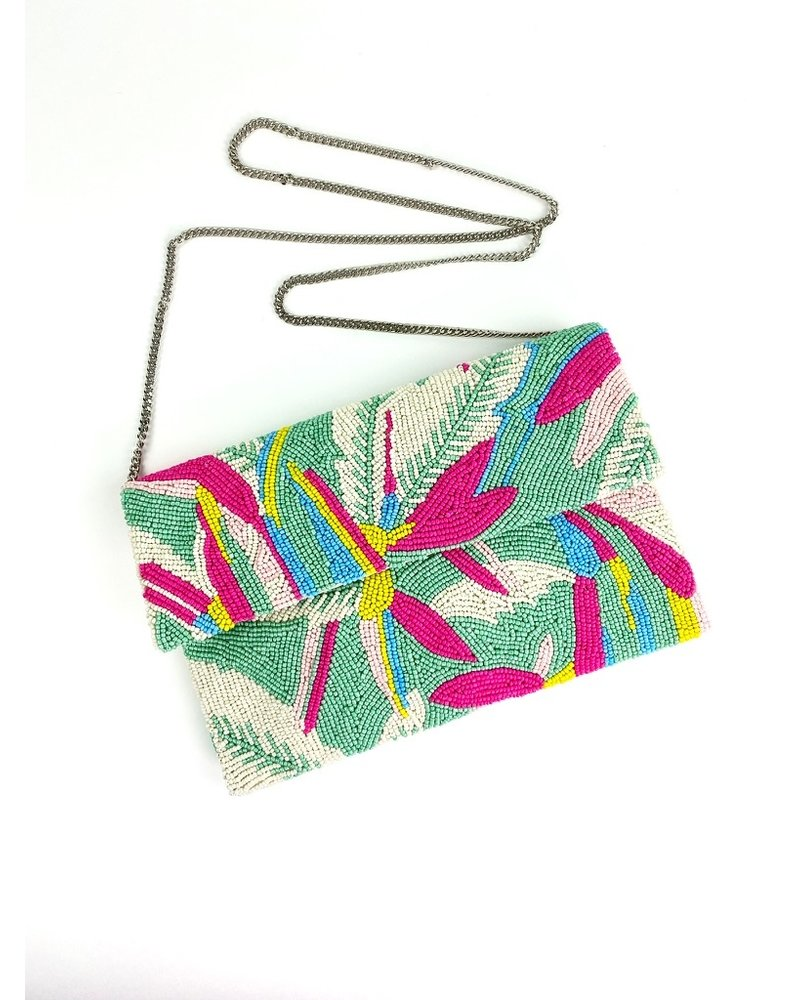 Tiana Designs Bali Hand-Beaded Clutch