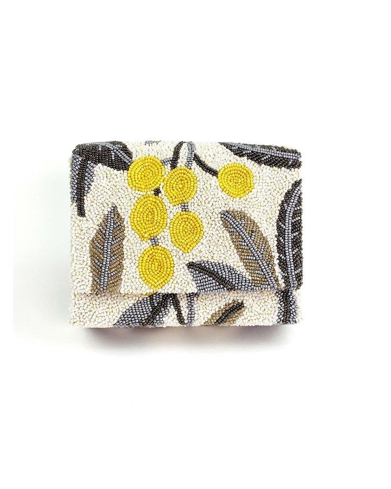 Tiana Designs Limoncello Hand-Beaded Box Bag