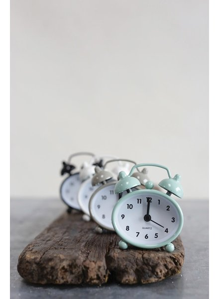 Creative Co-op Metal Mini Alarm Clock