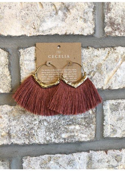 Cecelia Fringe Tassel Earrings