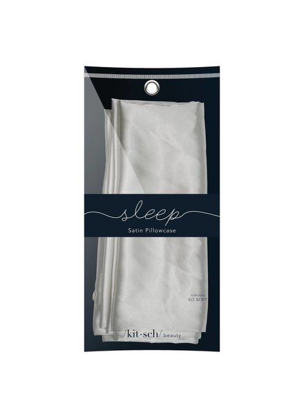 Kitsch Silver Satin Pillowcase