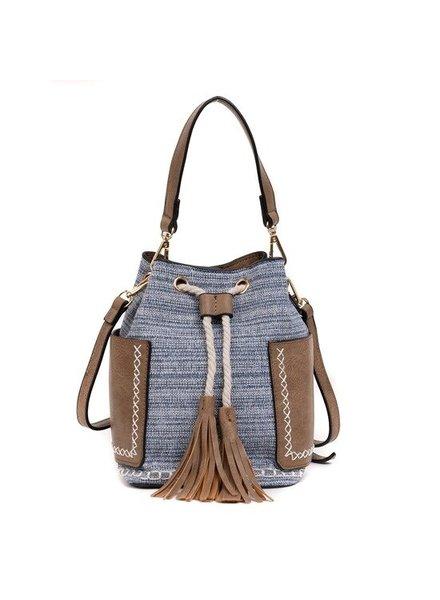 Jen & Co Denim Blue Mini Bucket Bag
