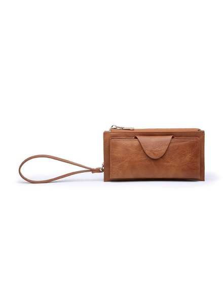 Jen & Co Brown Wristlet/Wallet