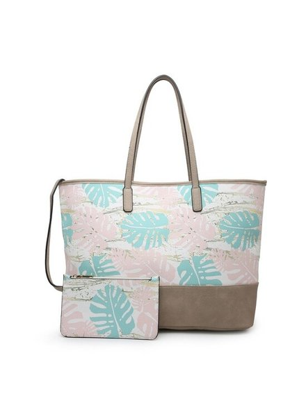 Jen & Co Palm Leaf Tote Bag