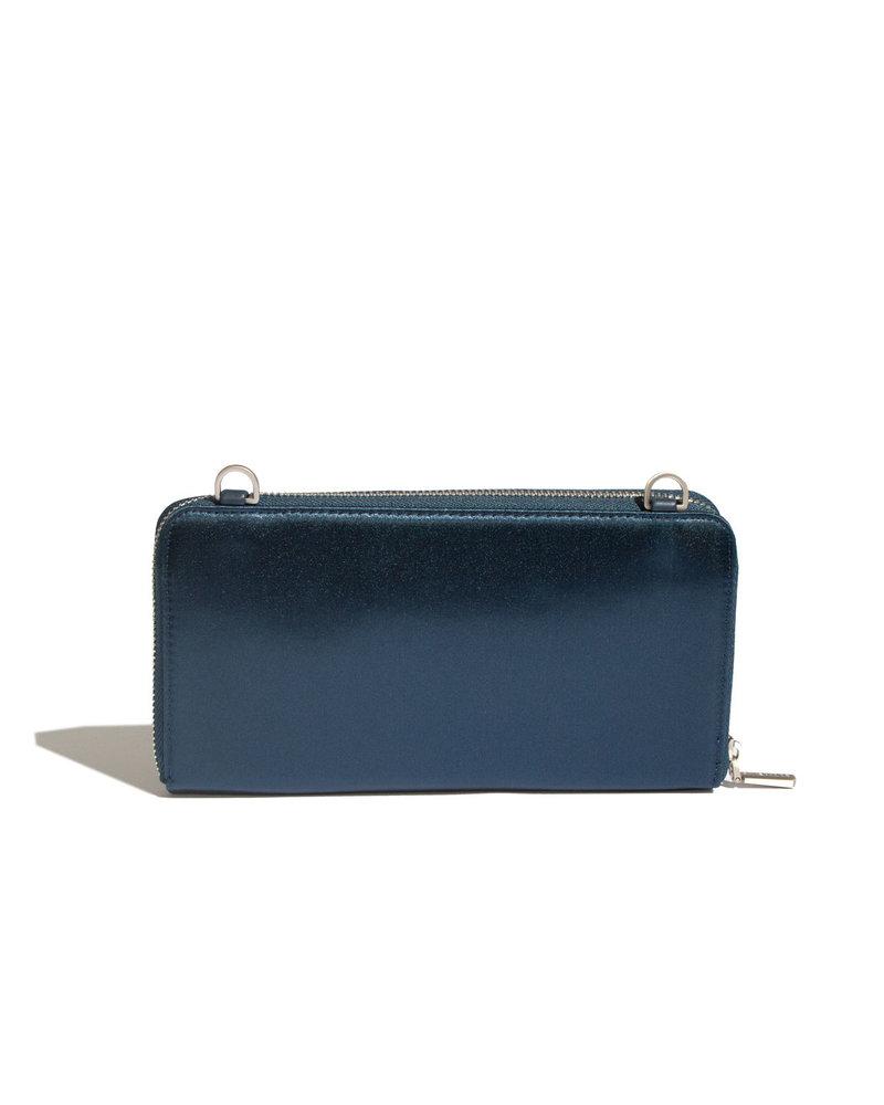 Pixie Mood Satin Blue  Zip Around Wallet