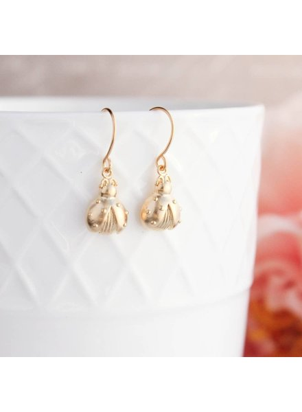 A Pocket of Posies Gold Ladybug Earrings