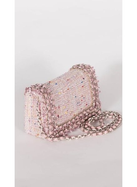 Inzi Kelly Pink Quilted Bag