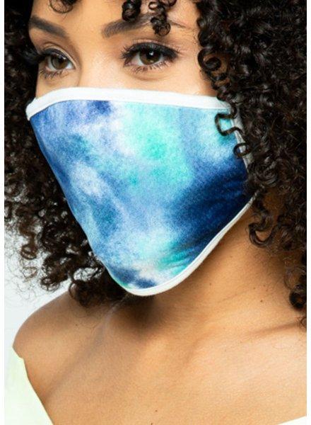 Love In Navy Tie Dye Mask