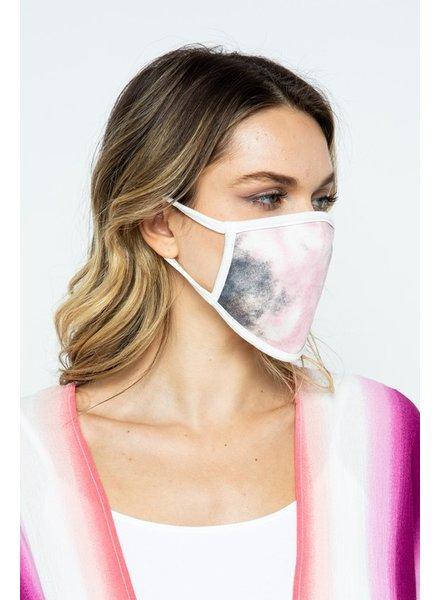 Love In Dusty Pink Tie Dye Mask