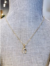 The Beaded Wire Horseshoe Necklace