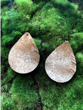 Cecelia Brown Sugar Cut Teardrop Earrings