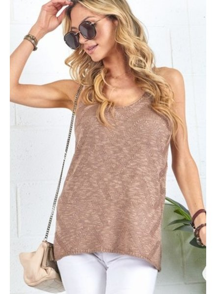 Faith Apparel Taupe Knit Tank