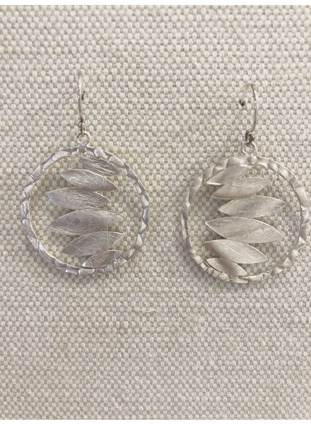 Takobia Hammered Leaf Earrings