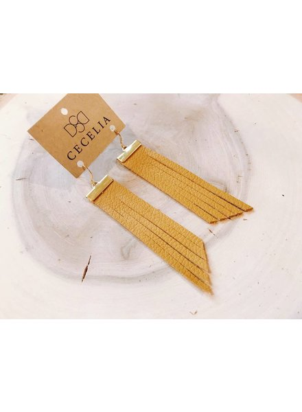 Cecelia Bar Tassel Earrings