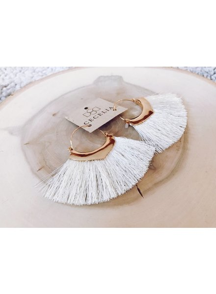 Cecelia Fringe Tassel Earrings